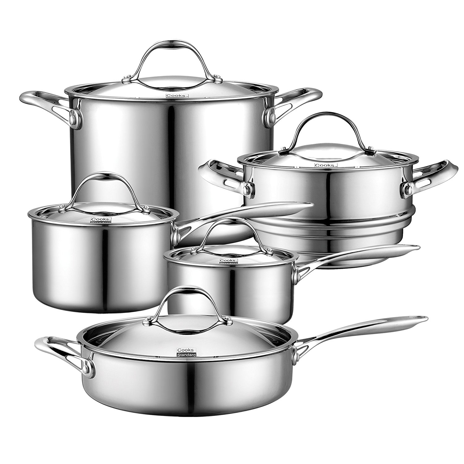 Cooks Standard 10 Piece Multi-Ply Clad Cookware Set Reviews