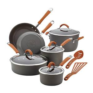 Rachael Ray Nonstick Cookware Set, 12-Piece