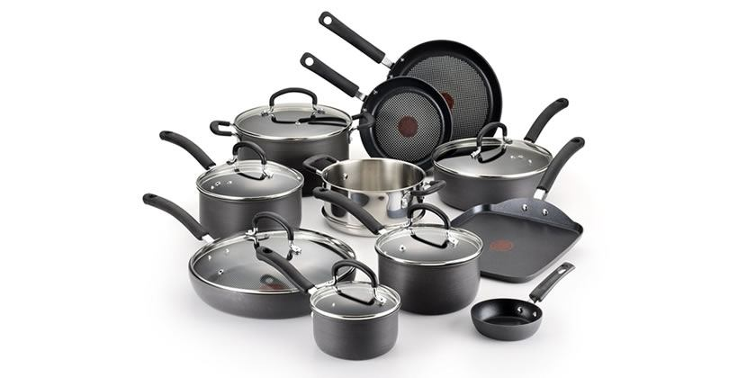 T-fal E765SH Hard Anodized Nonstick Cookware Set, 17-Piece