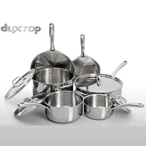 Duxtop Whole- Clad Tri-Ply, 1-Pc Set (Secura)