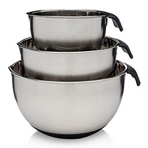 Francois 3-Piece Stainless Steel Mixing Bowl Set