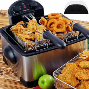 Secura 1700-Watt Triple Basket Electric Deep Fryer