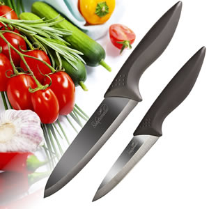 Solutionelle™ Chef and Paring Knives with Finish Blades