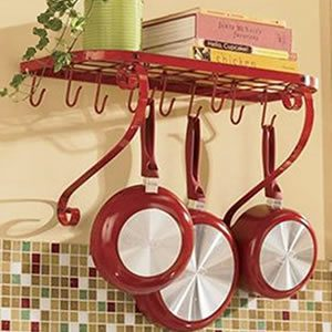 VDOMUS Square Grid Wall Mount Pot Rack