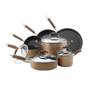 Anolon Bronze Hard 11-Piece Cookware Set