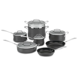 Details of the Cuisinart 64-13 Contour Hard Anodized 13-Piece Cookware Set
