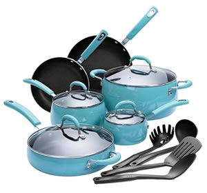 Finnhomy Hard Porcelain 14-Piece Aluminum & Ceramic Cookware Set