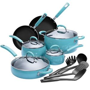 Details of the Finnhomy Enamel Aluminum 14-Piece Cookware Set