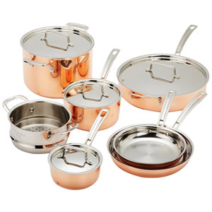 Cuisinart CTP-11AM Copper Tri-Ply 11-Piece Cookware Set