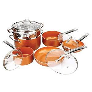 Copper Pan 10-Piece Non-stick Luxury Cookware Set