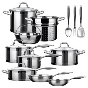 Duxtop SSIB-17 17 piece Stainless Steel Cookware Set
