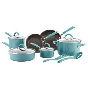 Rachael Ray Cucina Hard Porcelain Enamel 12-Piece Nonstick Ceramic Cookware