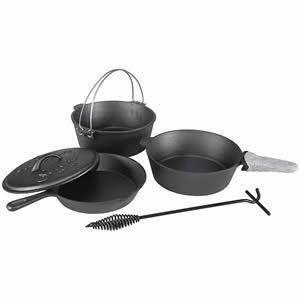 Stansport Cast Iron 6 Piece Cookware Set Review